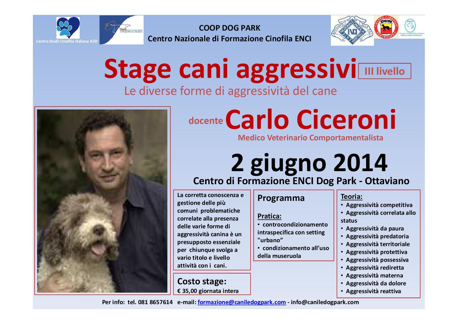 Stage cani aggressivi III° L.