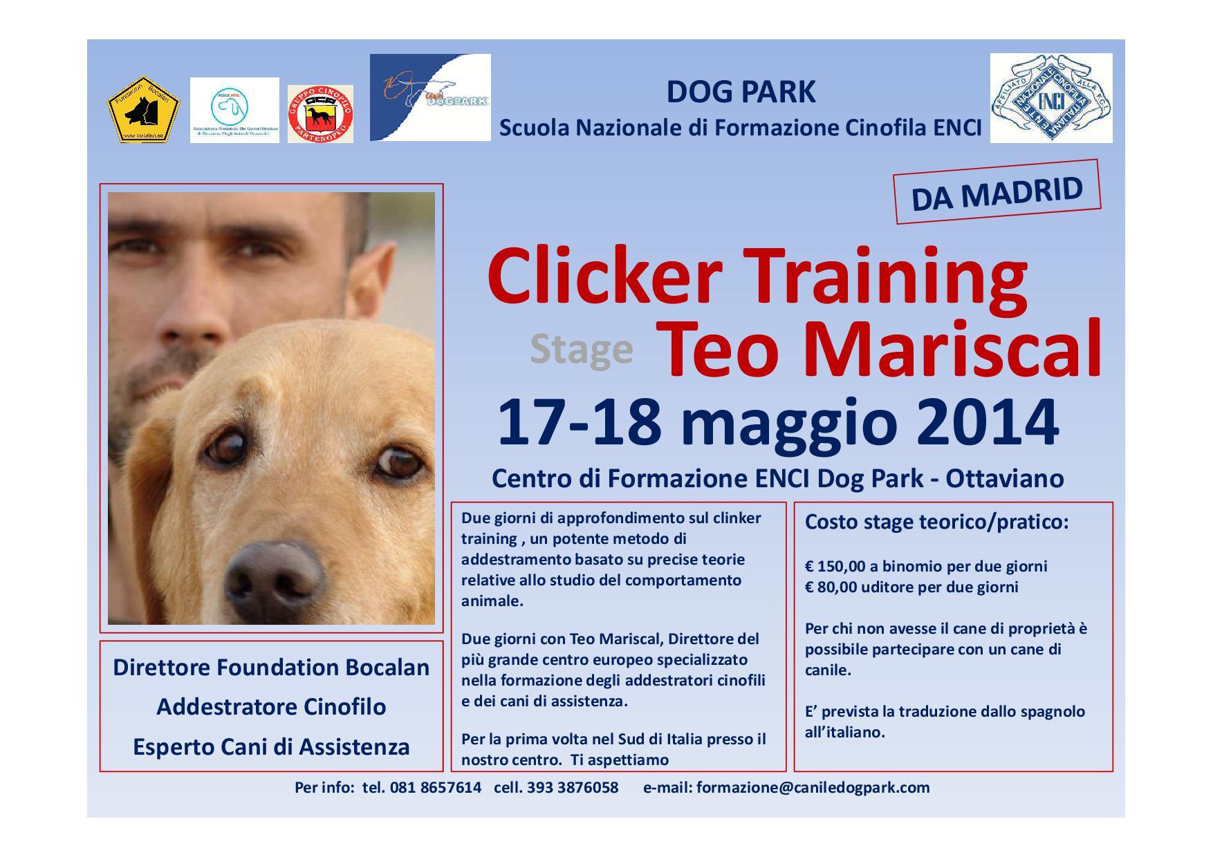 Clicker Training-Teo Mariscal
