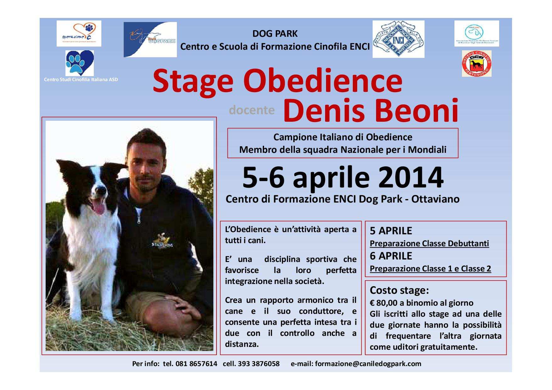 Stage Obedience-Denis Beoni
