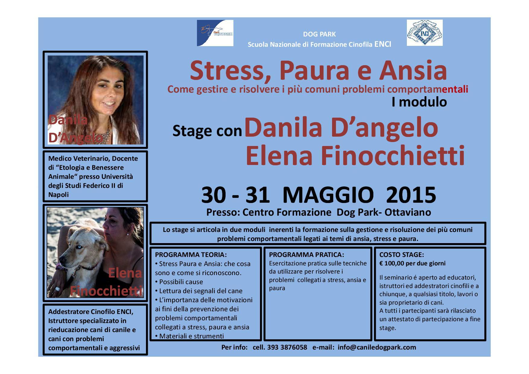 Stage Stress, Paura e Ansia