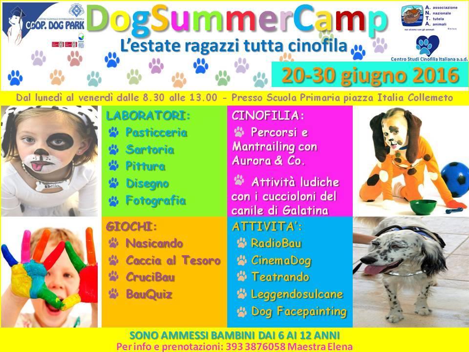 Dog Park presenta l'Estate Ragazzi più travolgente e spettacolare mai realizzata in Italia... DOG SUMMER CAMP nel cuore del Salento!!!! La prima e unica Estate Ragazzi tutta Cinofila