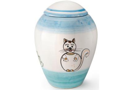 Urna in ceramica realizzata artigianalmente - Collezione Ravello
