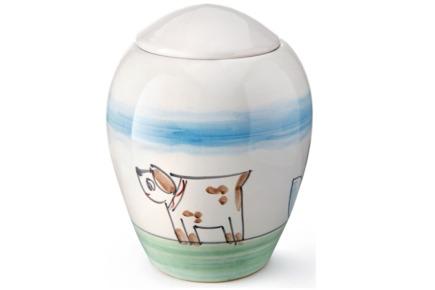 Urna in ceramica realizzata artigianalmente - Collezione Amalfi