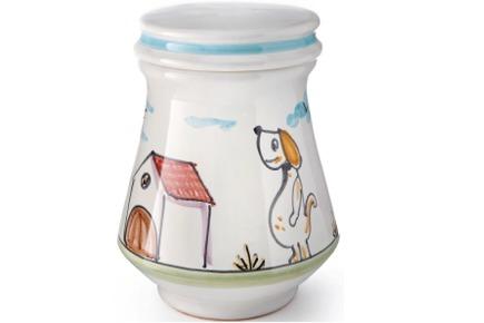 Urna in ceramica realizzata artigianalmente - Collezione Atrani - cane