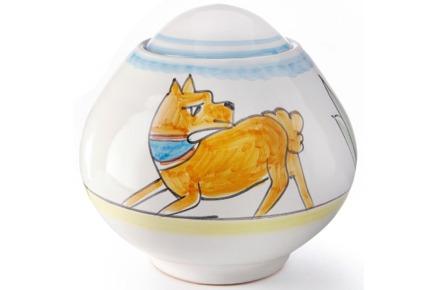 Urna in ceramica realizzata artigianalmente - Collezione Ravello - cane