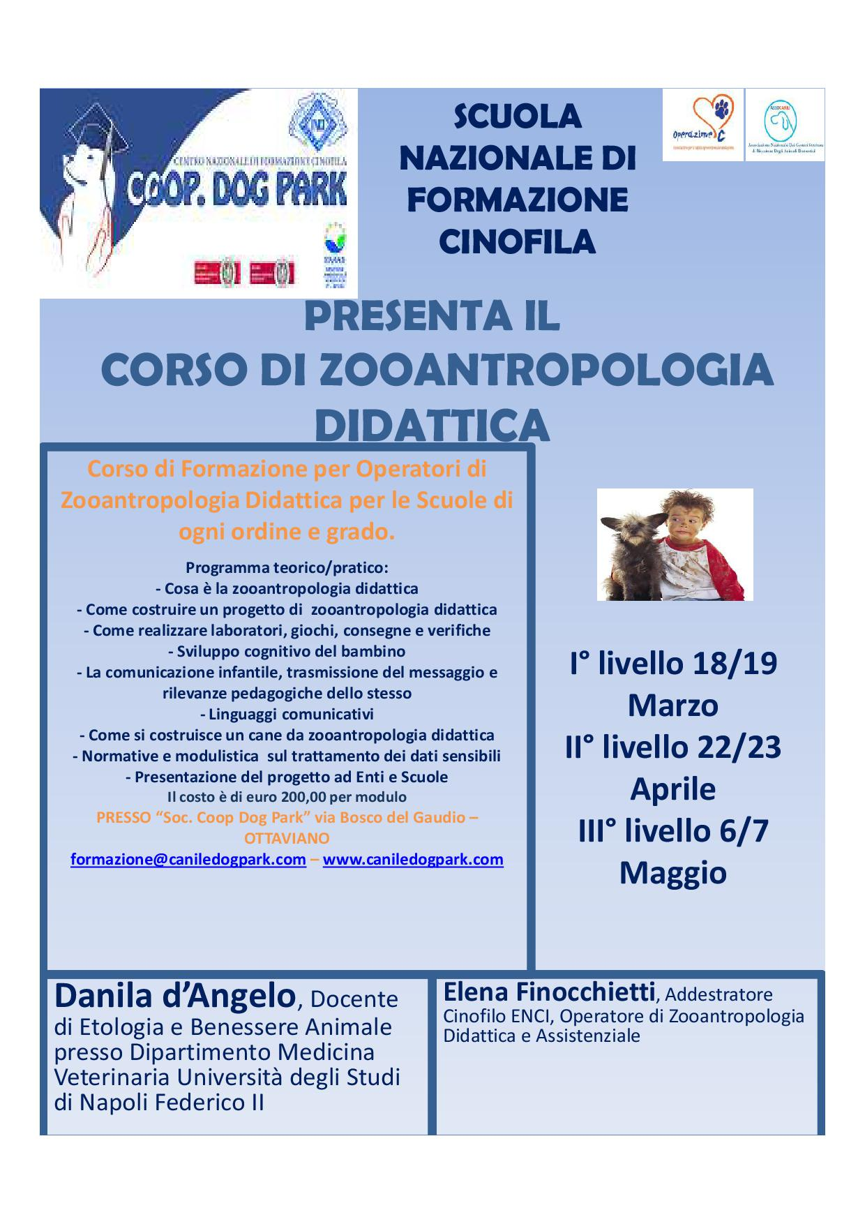 Corso Zooantropologia Didattica