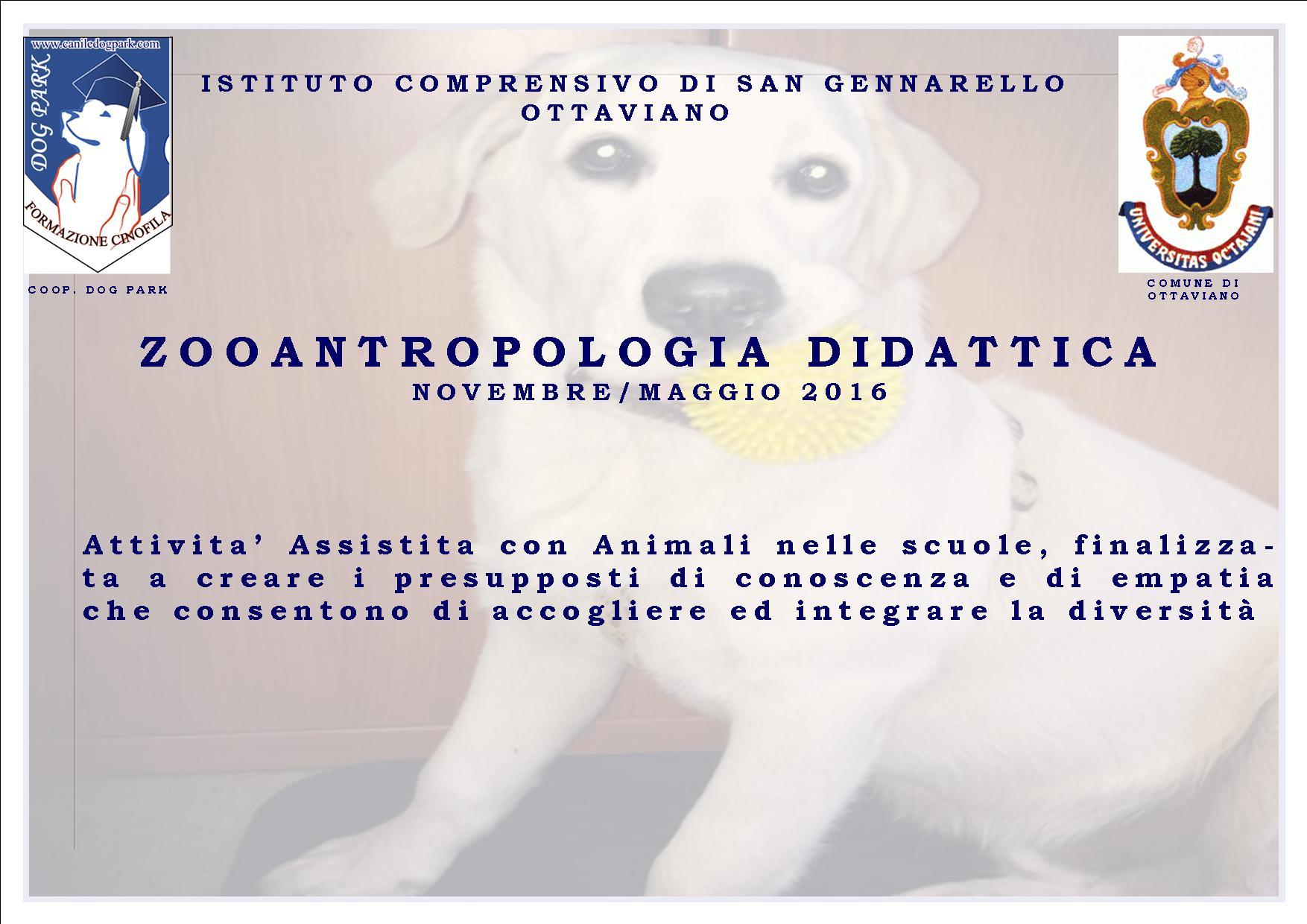 ZOOANTROPOLOGIA DIDATTICA - ISTITUTO COMPRENSIVO DI SAN GENNARELLO OTTAVIANO