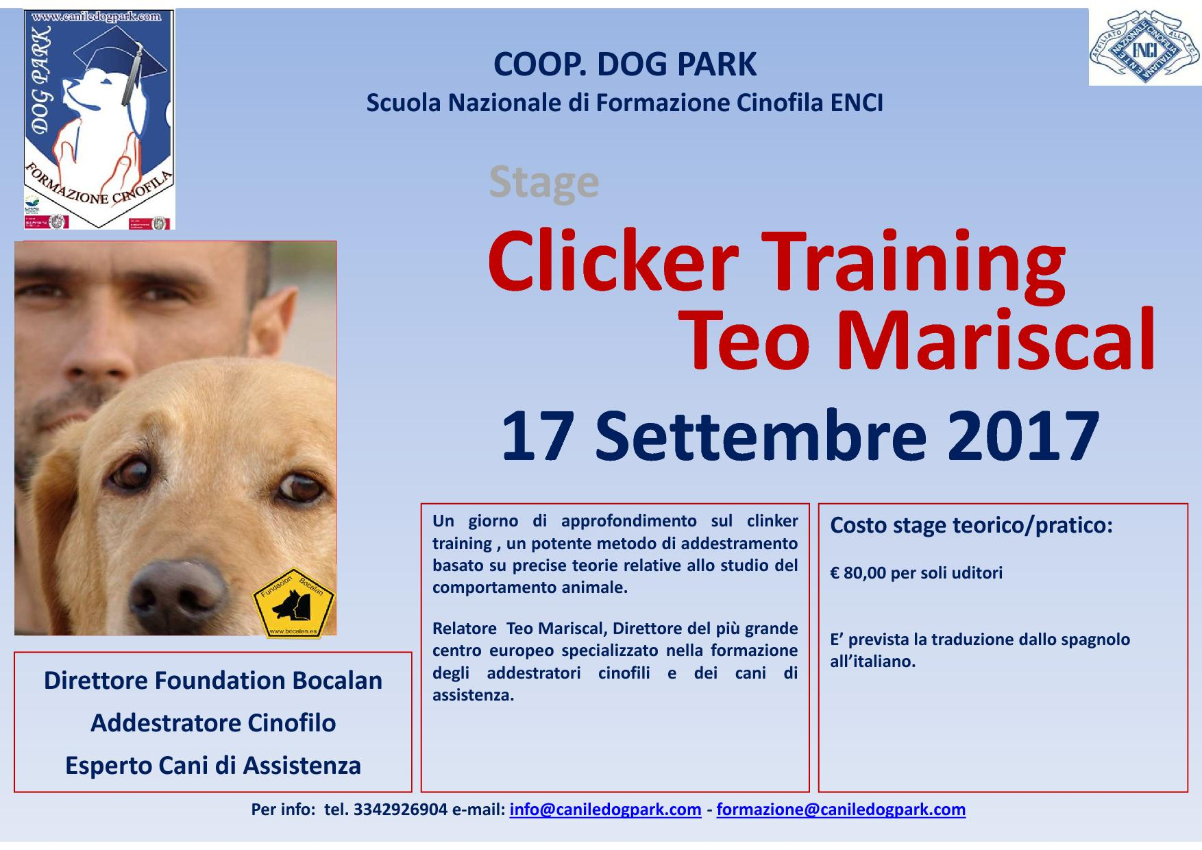 Clicker Training con Teo Mariscal