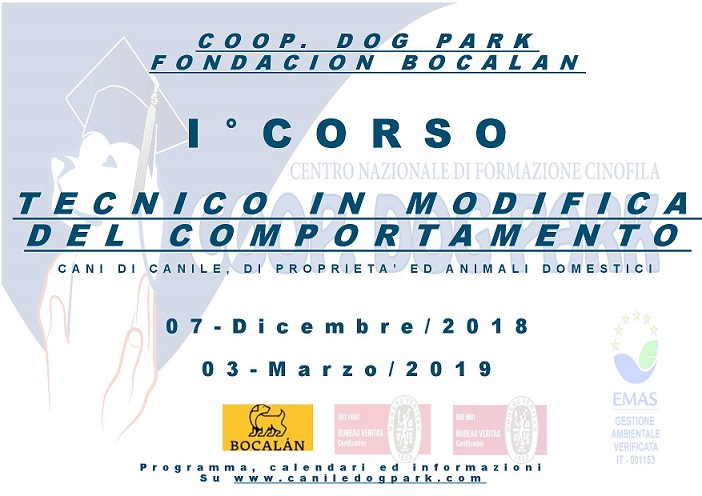 1° CORSO TECNICO IN MODIFICA DEL COMPORTAMENTO