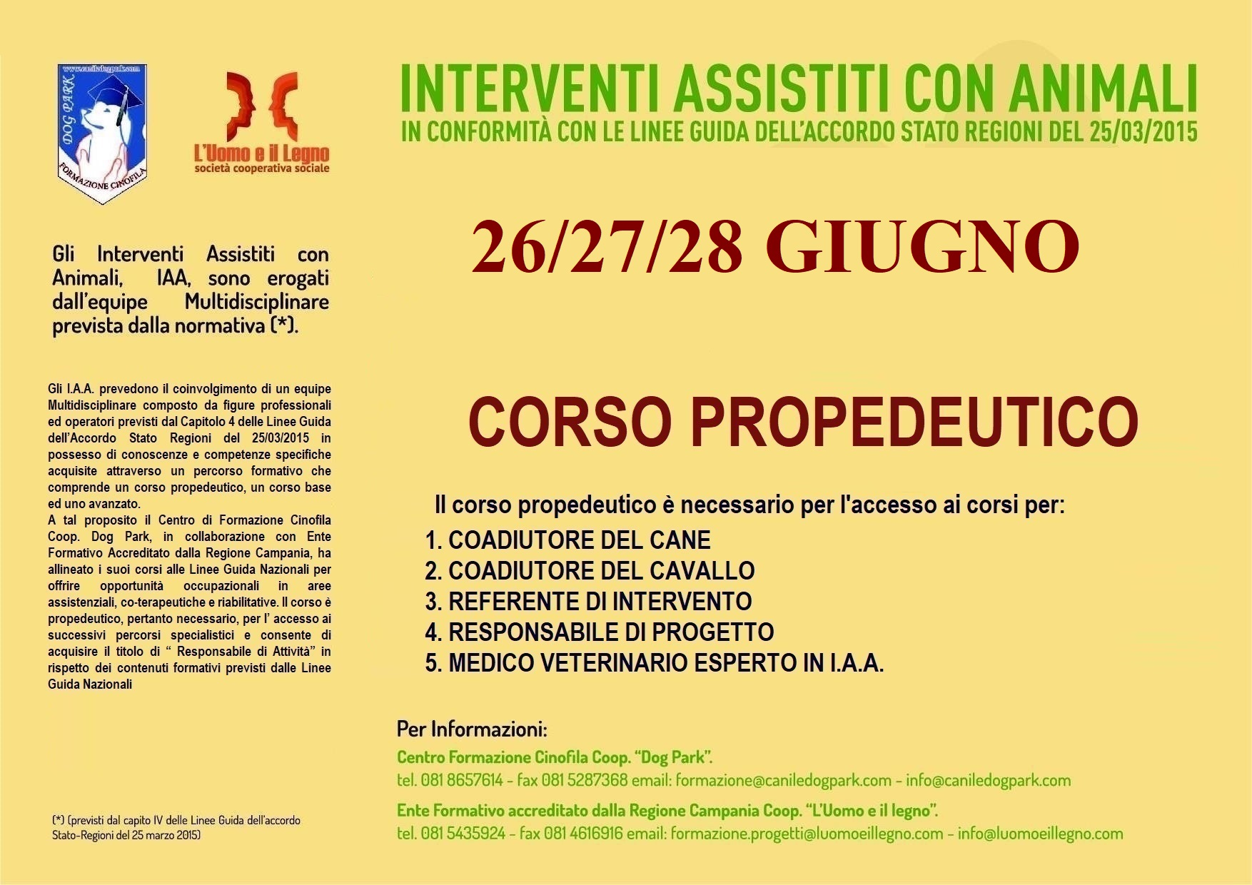 CORSO PROPEDEUTICO I.A.A.